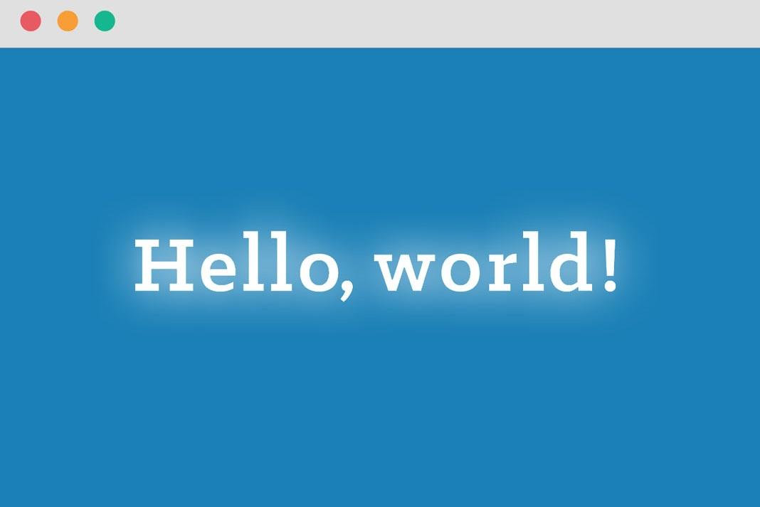 Gambar Hello World Hai Ini Adalah Postingan Pertama RM Digital