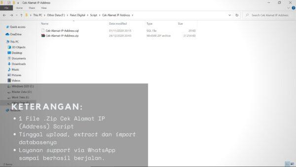 Gambar Detail Script Code Atau Kode Tools Alat Cek Alamat IP Address Dan IP Subnet Untuk Moneysite