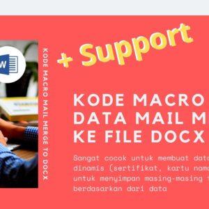 Gambar Produk Kode Macro Makro Microsoft Word Untuk Save Data Mail Merge Ke Bentuk Docx Secara Otomatis Plus Layanan Support