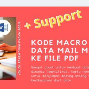 Gambar Produk Kode Macro Makro Microsoft Word Untuk Save Data Mail Merge Ke Bentuk PDF Secara Otomatis Plus Layanan Support