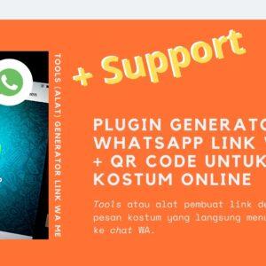Gambar Produk Plugin Tools Alat WhatsApp Me Link Generator Buat Pesan Klik Chat Nomor Online Untuk Wordpress Plus Layanan Support