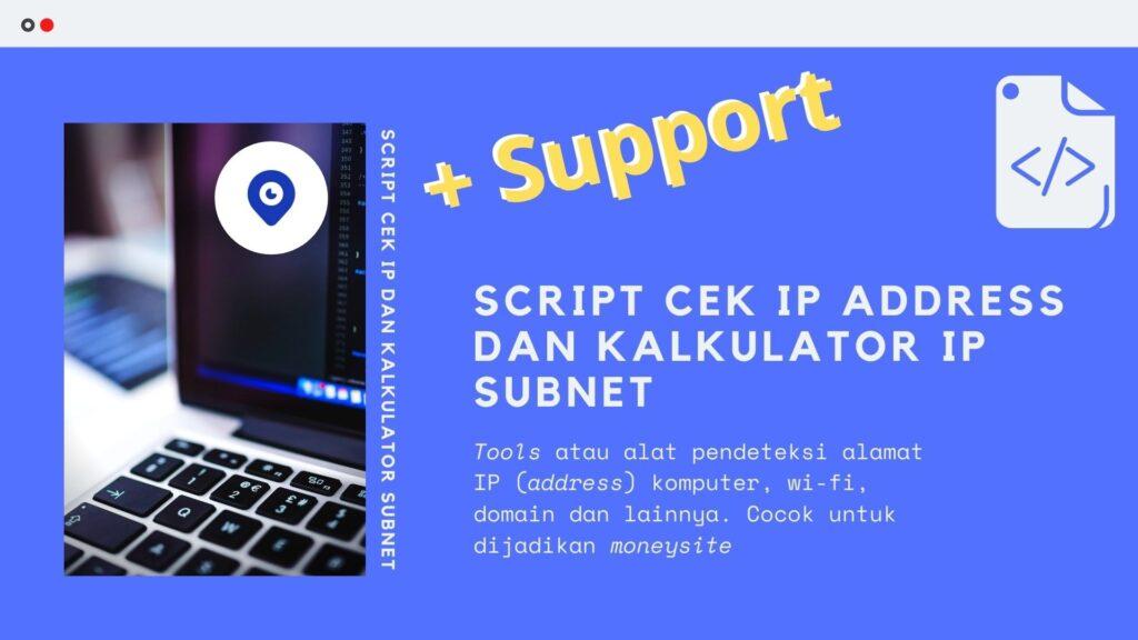 Gambar Produk Script Kode Tools Alat Cek Alamat IP Address Dan IP Subnet Untuk Moneysite