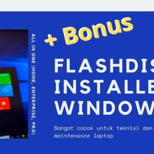 Gambar Produk USB Flashdisk Flash Drive FD Windows 10 8.1 8 Dan 7 All In One Installer 32 64 Bit Plus Microsoft Office